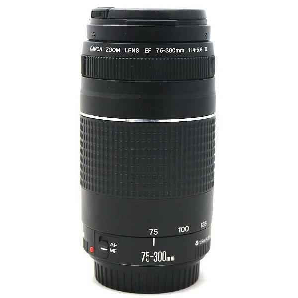 Lente Canon EF 75-300mm f/4-5.6 III Seminova