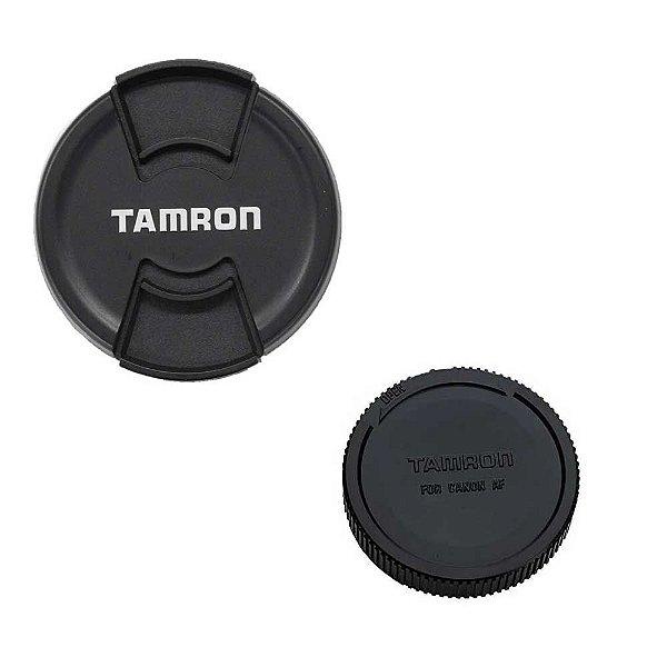 Kit de Tampas Tamron (Frontal 72mm e Traseira Canon AF) Seminova