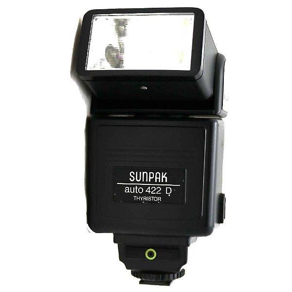 Flash Sunpak Auto 422D Thyristor Usado para Câmera Analógica