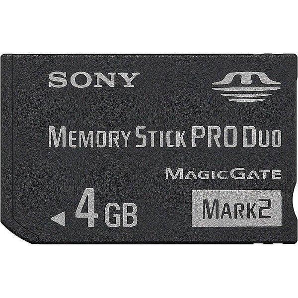 Cartão de Memória Sony Memory Stick Pro Duo Mark 2 4GB