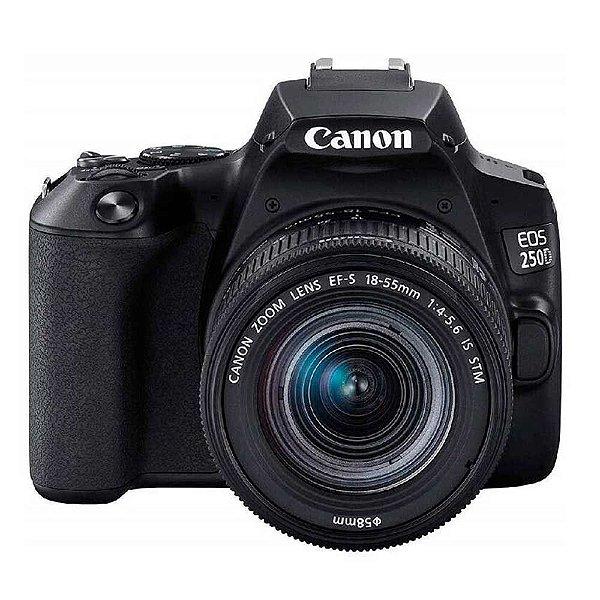 Câmera Canon EOS 250D Rebel SL3 Kit EF-S 18-55mm IS STM Versão Europeia