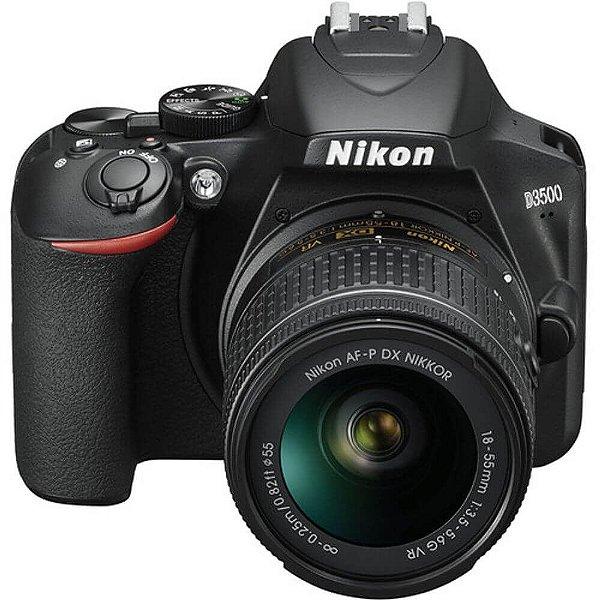 Câmera Nikon D3500 Kit AF-P DX 18-55mm f/3.5-5.6G VR