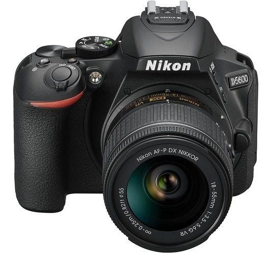 Câmera Nikon D5600 Kit AF-P DX NIKKOR VR 18-55mm f/3.5-5.6G VR