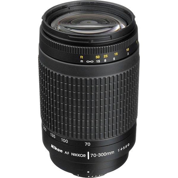 Lente Nikon Nikkor AF Zoom 70-300mm f/4-5.6G Objetiva Seminova