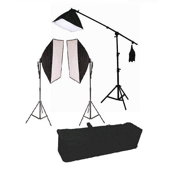 Kit de Iluminação Greika PK-SB03 Retangular 50x70cm com Lâmpada 45w e Girafa 40x40cm 135w 110v