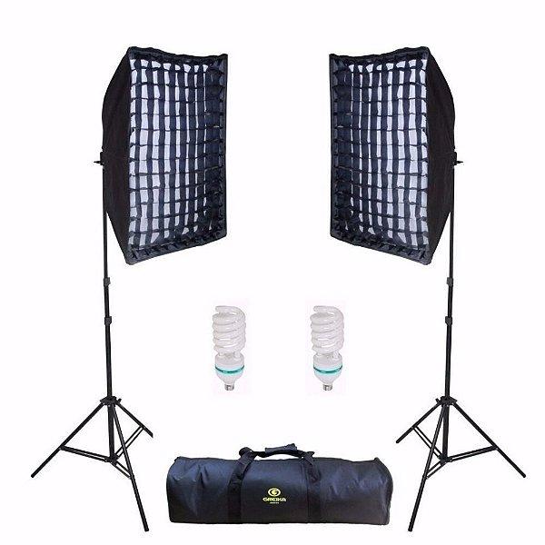 Kit de Iluminação Greika Ágata II Retangular 50x70cm com Luz Contínua 135w 110v