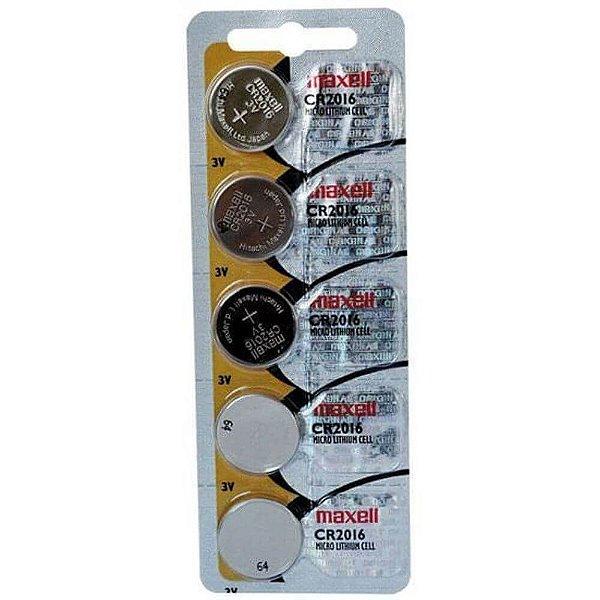 Bateria Maxell CR2016 3v com 5 Unidades