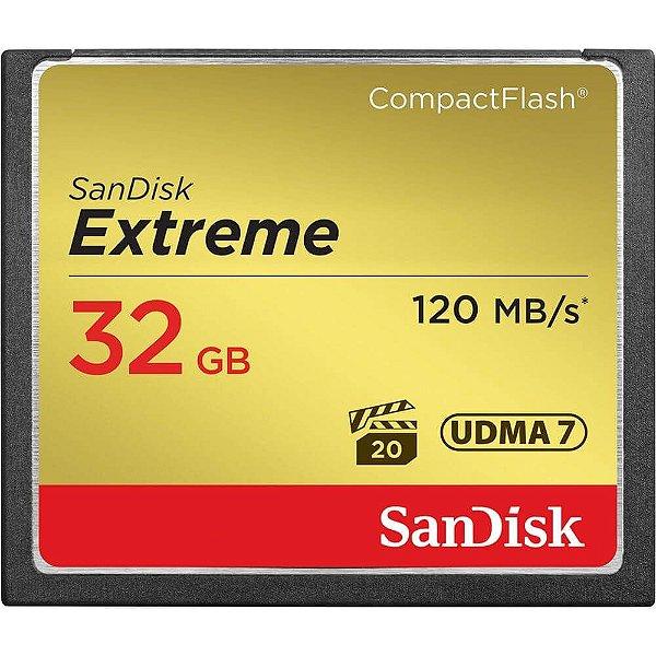 Cartão de Memória SanDisk Compact Flash Extreme 32GB 120 MB/s