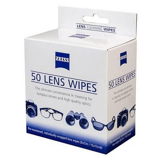 50 Lenços Umedecidos para Limpeza de Lentes Lens Wipes Zeiss