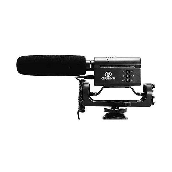 Microfone Direcional Shotgun Greika GK-SM10