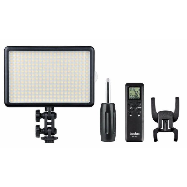 Iluminador de LED Godox Light 308C Com Bateria e Carregador