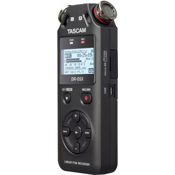 Gravador Digital de Áudio Tascam DR-05X