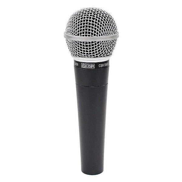 Microfone de Mão Profissional Dinâmico Com Fio CSR SM58