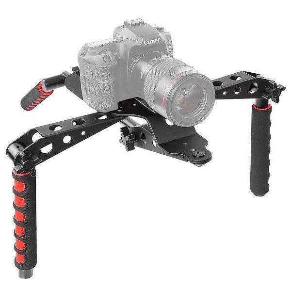 Suporte Estabilizador de Ombro Greika SP2 Rig para Câmera DSLR