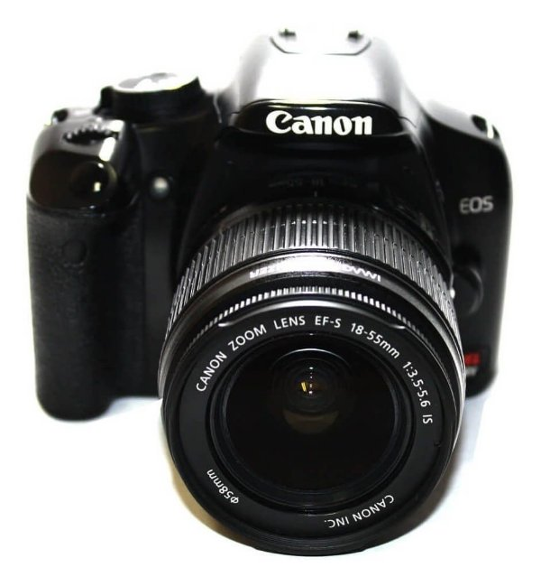 Câmera Canon EOS Rebel XSi com Lente 18-55mm IS Usada