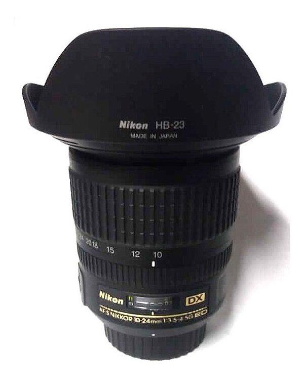 Lente Nikon AF-S DX NIKKOR 10-24mm f/3.5-4.5G ED Seminova