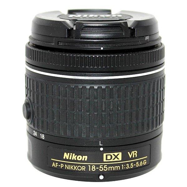 Lente Nikon AF-P DX NIKKOR 18-55mm f/3.5-5.6G VR Seminova