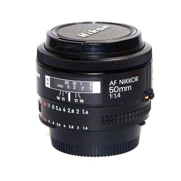 Lente Nikon AF NIKKOR 50mm f/1.4 Seminova