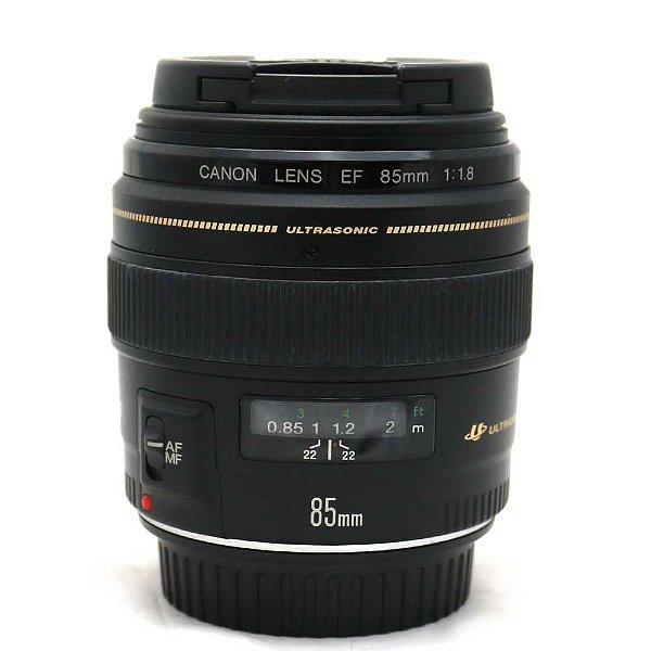 Lente Canon EF 85mm f/1.8 USM Seminova
