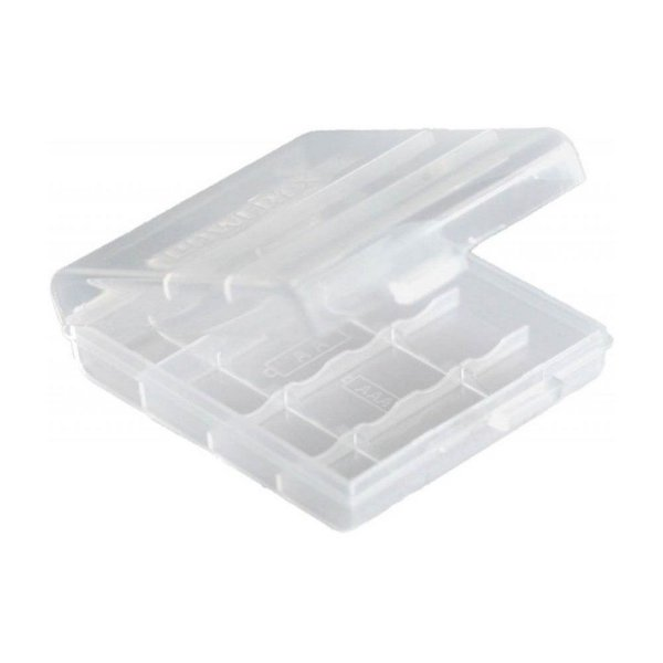 Porta Pilha AA Transparente para 4 unidades