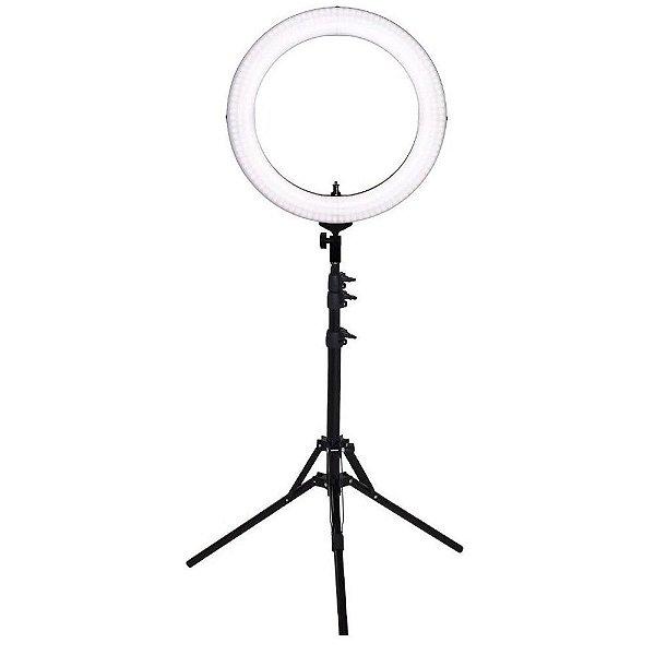 Iluminador Ring Light Greika RL 19 com Tripé