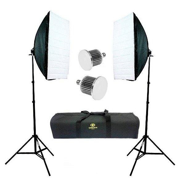Kit de Iluminação Greika Ágata II Led B Retangular 40x60cm com Luz Led 50w Bivolt