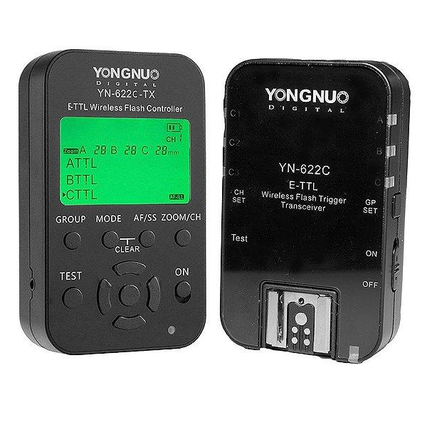 Rádio Flash Yongnuo YN-622C II E-TTL para Canon