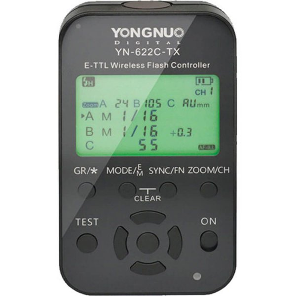 Transmissor Rádio Flash TTL Yongnuo YN-622C-TX II para Canon