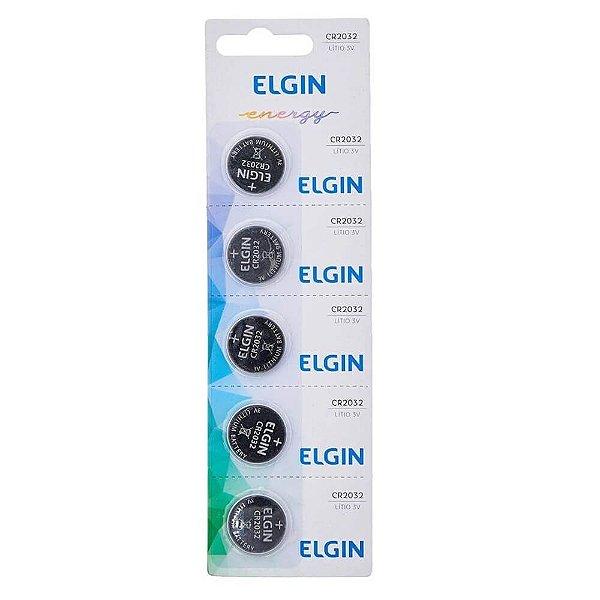 Bateria Elgin CR2032 3v com 5 Unidades