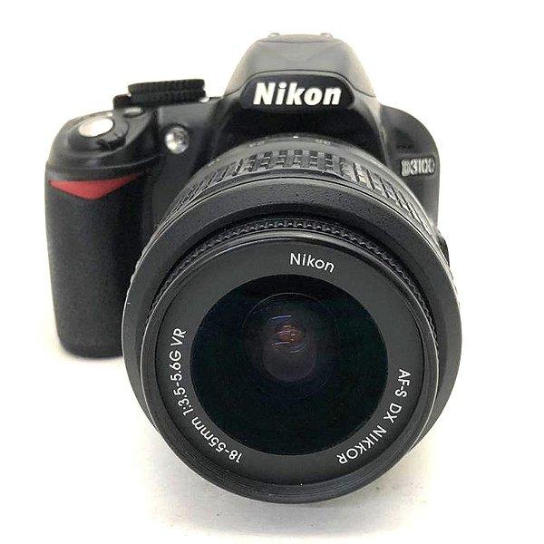 Câmera Nikon D3100 com Lente AF-S 18-55mm VR Usada