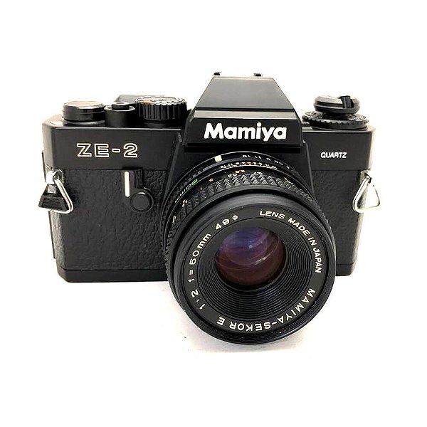 Câmera Analógica Mamiya ZE-2 Quartz com Lente 50mm Usada