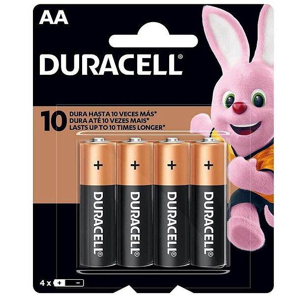 Pilha AA Duracell 1.5v com 4 Unidades