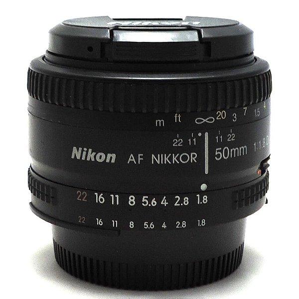 Lente Nikon NIKKOR F 50mm f/1.8D AF Seminova