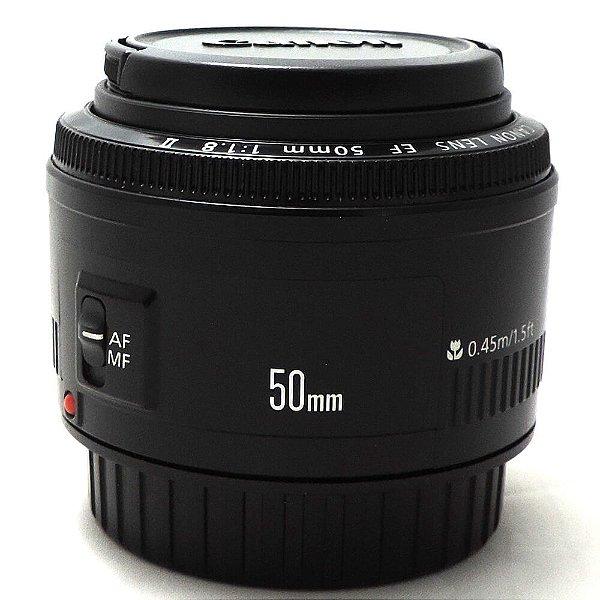 Lente Canon EF 50mm f/1.8 II AF Seminova