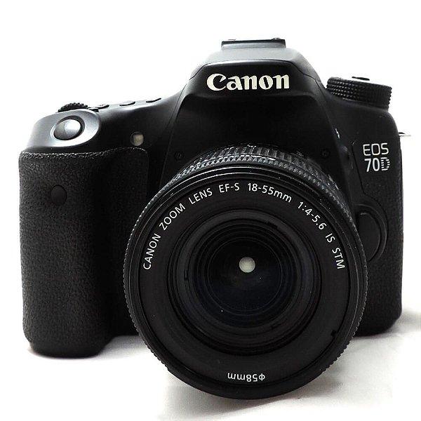 Câmera Canon EOS 70D com Lente 18-55mm IS STM Usada