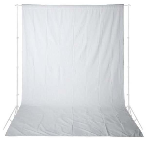 Tecido para Fundo Infinito 3x5 Cor Branco