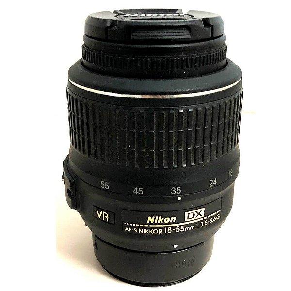 Lente Nikon NIKKOR AF-S 18-55mm f/3.5-5.6G VR DX Usada