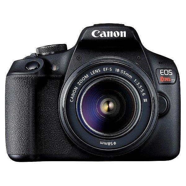 Câmera Canon EOS Rebel T7+ Kit EF-S 18-55mm DC III