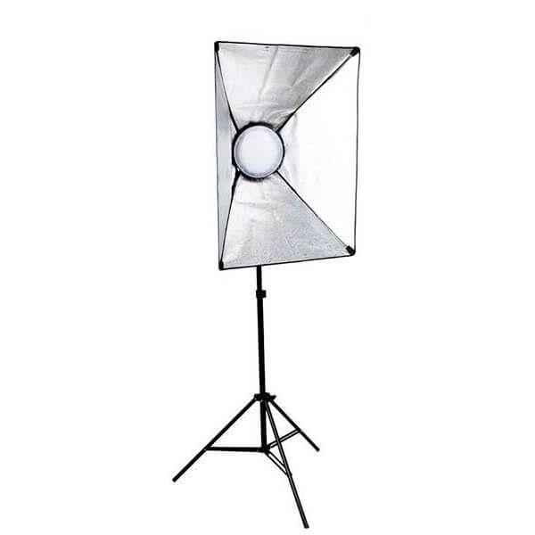Kit de Iluminação Greika LEDMAX45 Retangular 50x70cm com Luz LED 45w e Tripé 2,40 metros