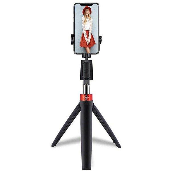 Mini Tripé SelfieCom Y11 com Pau de Selfie e Disparador