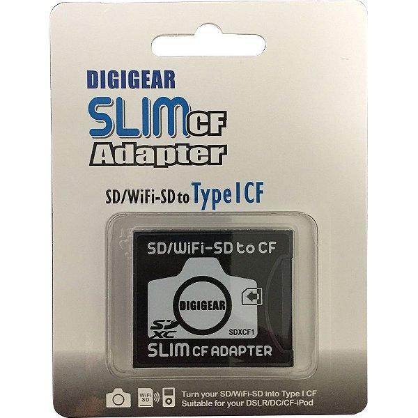 Adaptador para Cartão de Memória Digigear SD Slim para CF Tipo I