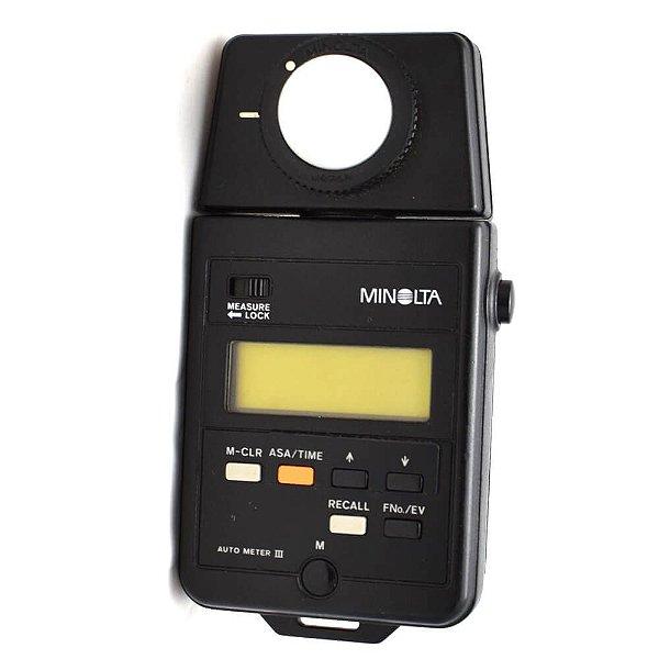 Fotômetro Minolta Auto Meter III Usado