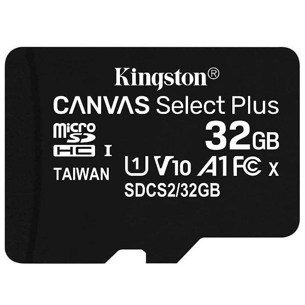 Cartão de Memória Kingston Micro SDHC 32GB 100 MB/s