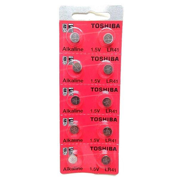 Bateria Toshiba LR41 1.5v com 10 Unidades