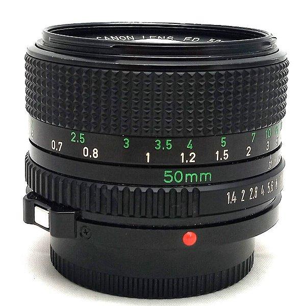Lente Canon FD 50mm f/1.4 MF Usada