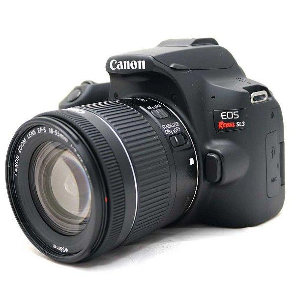 Câmera Canon EOS Rebel SL3 com Lente 18-55mm IS STM Seminova