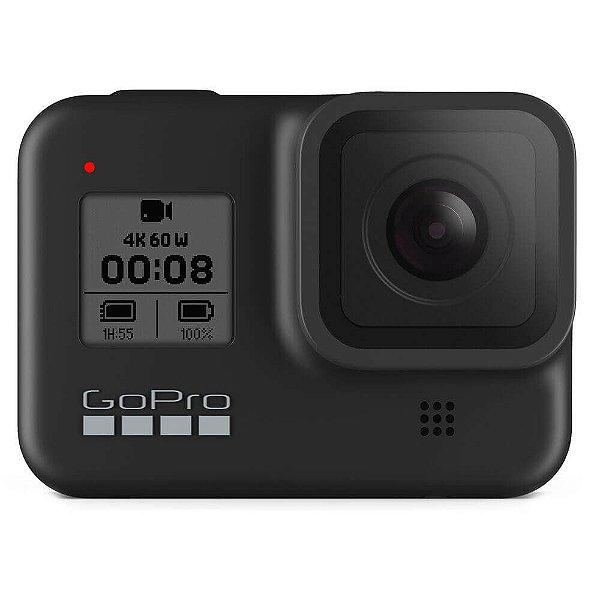 Câmera de Ação GoPro Hero8 Black Bundle com Cartão de Memória e Acessórios