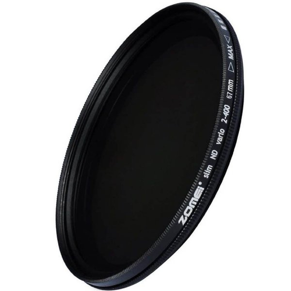 Filtro ND Variável 2-400 Slim Zomei 67mm