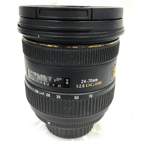 Lente Sigma 24-70mm f/2.8 DG HSM EX para Nikon Seminova