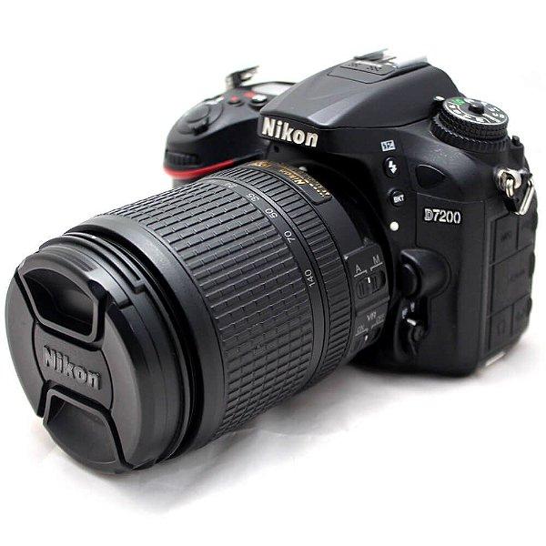 Câmera Nikon D7200 com Lente 18-140mm ED VR Seminova